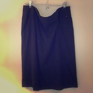 Trina Turk black skirt with lace lining